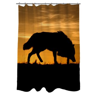 Click to buy Wolf Shower Curtain: Wolf Silhouette Shower Curtain from Wayfair!