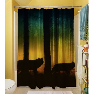 Click to buy Wolf Shower Curtain: Tracking Wolves Shower Curtain from Wayfair!