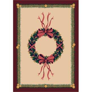 Winter Holiday Wreath Rug