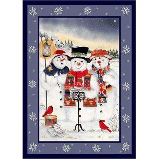 Merry Minstrels Snowmen Rug