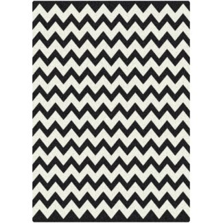Milliken Black and White Vibe Techno Black Contemporary Rug - 536831-0005-201