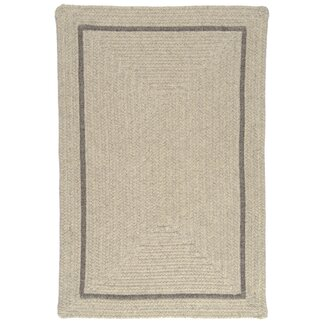 Shear Natural Braided Wool Rug