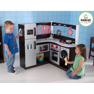 KidKraft Grand Espresso Corner Kitchen - 53271