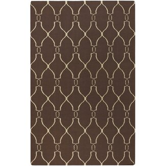 Jill Rosenwald Rugs Fallon Brown / Ivory Contemporary Rug - FAL1000