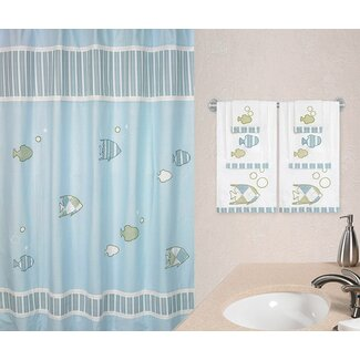 Fish shower curtain shop everything log homes for How often should you change your shower curtain