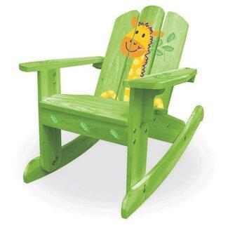 Giraffe Furniture - green rocking chair