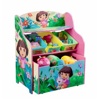 Delta Children's Products Nickelodeon's Dora the Explorer 10th Anniversary 3 Tier Organizer and Toy Box - TB84645DO