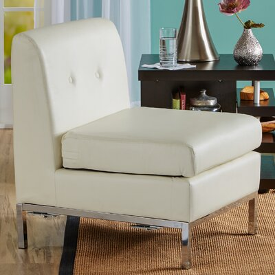 Abby Deluxe Slipper Chair Color: White