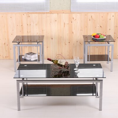 Jahtonne 3 Piece Coffee Table Set