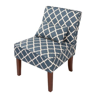Novian Parsons Chair Upholstery Color: Blue
