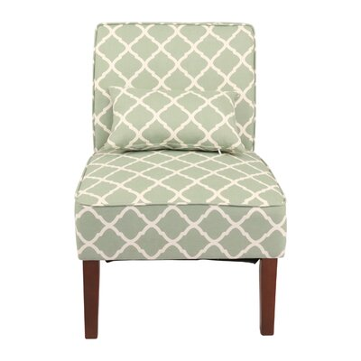 Novian Parsons Chair Upholstery: Green
