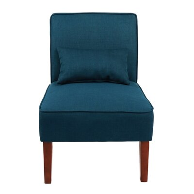 Novian Parsons Chair Upholstery Color: Navy Blue