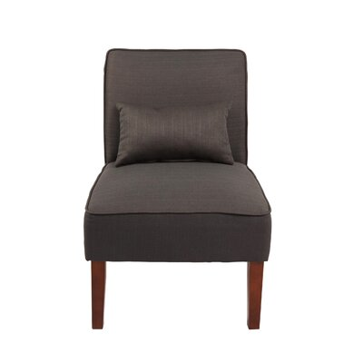 Novian Parsons Chair Upholstery: Dark Gray