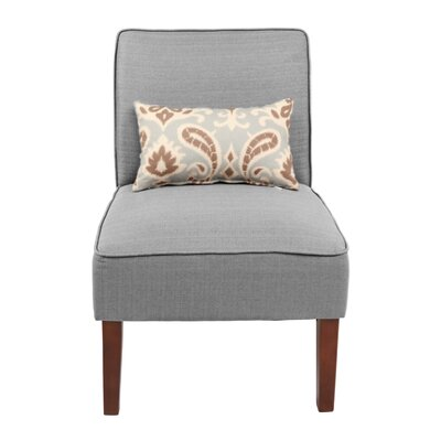 Novian Parsons Chair Upholstery Color: Light Gray