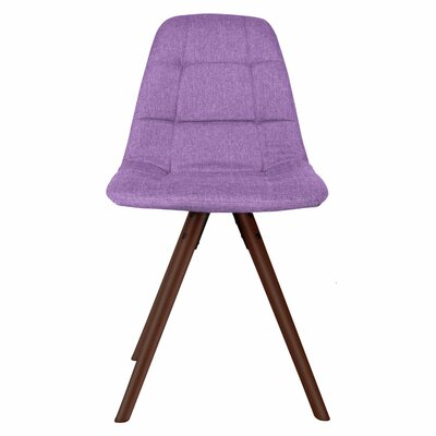 Brewster Fabric Side Chair Upholstery: Light Purple