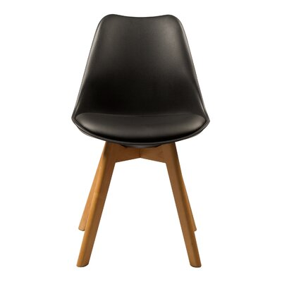 Brookfield Solid Wood Dining Chair Finish: Black