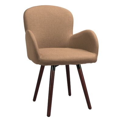 Buckland Side Chair Upholstery: Light Brown