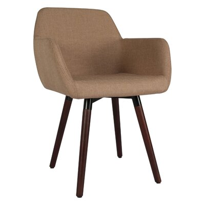 Brockton Side Chair Upholstery: Light Brown