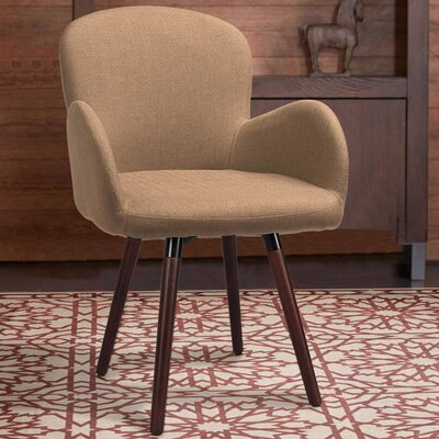 Khloe Armchair Upholstery: Light Brown