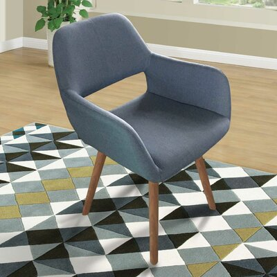 Mila Side Chair Upholstery: Soft Blue