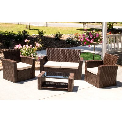 Hope 4 Piece Rattan Sectional Seating Group