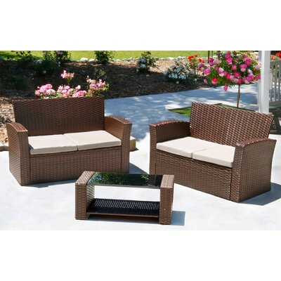 Hope 3 Piece Rattan Sofa Seating Group