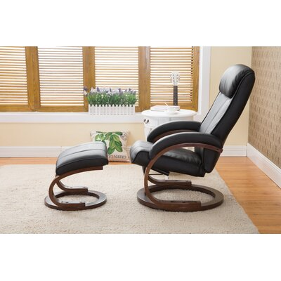 Cedarfields I-Rest Recliner with Ottoman Upholstery: Black