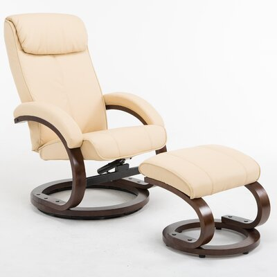 Cedarfields I-Rest Recliner with Ottoman Upholstery: Tan