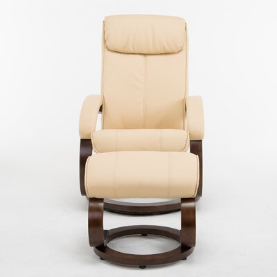 Cedarfields I-Rest Manual Swivel Recliner with Ottoman Upholstery: Tan