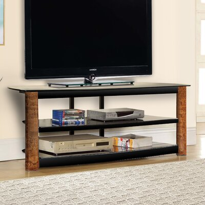 Fold N Snap TV Stand Color: Burl Wood, Width of TV Stand: 23 H x 62 W x 18 D