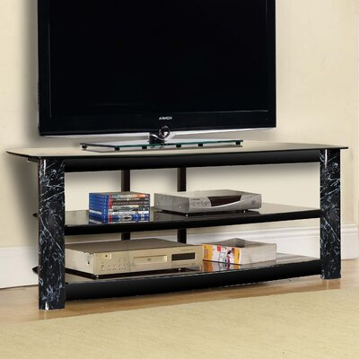 Fold N Snap TV Stand Color: Black Marble, Width of TV Stand: 23 H x 52 W x 18 D