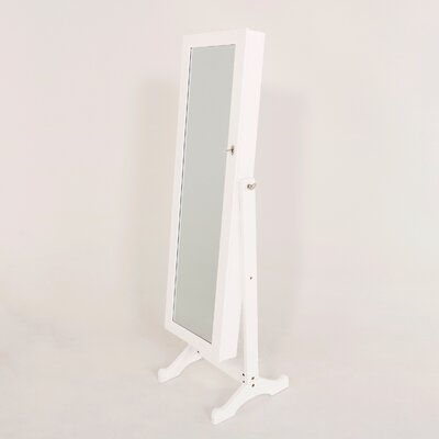 Stacy Jewelry Armoire Mirror Color: White