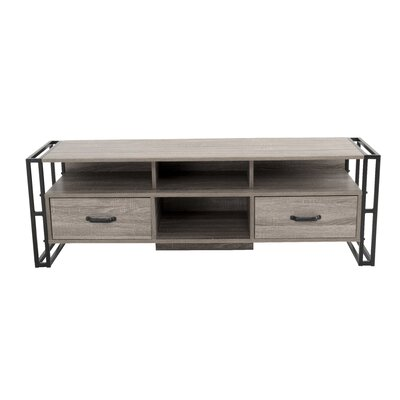 Caspian Industrial 55.12 TV Stand Color: Taupe