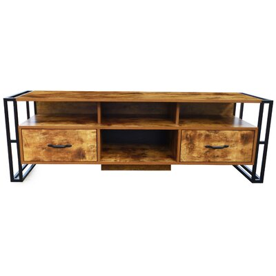 Caspian 55.12 TV Stand Color: Brown