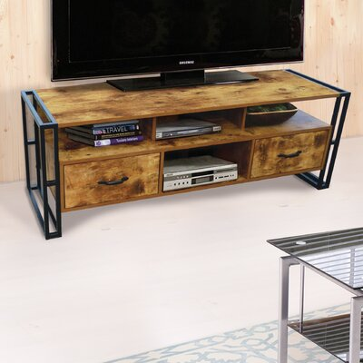 Vania 55 TV Stand Color: Rustic Wood