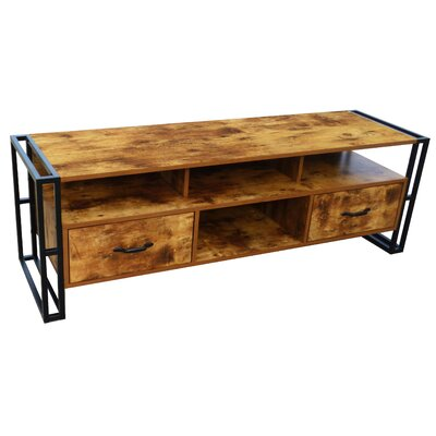 Caspian Industrial 55.12 TV Stand Color: Brown