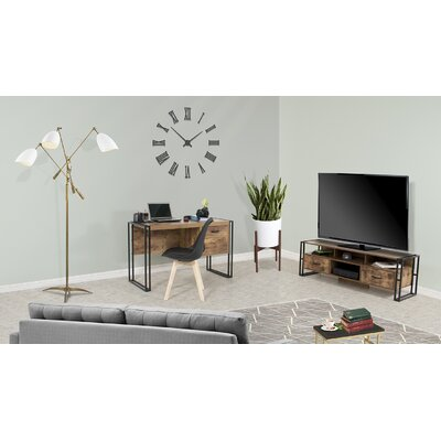 Caspian TV Stand Color: Taupe, Size: 29 H x 47 W x 20 D