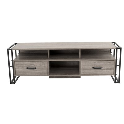 Caspian Industrial 55.12 TV Stand with Drawer