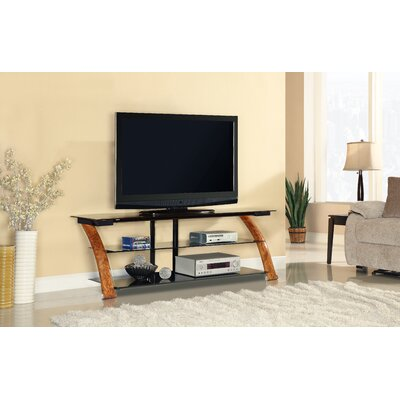 Fold N Snap TV Stand Color: Burl Wood, Width of TV Stand: 23 H x 65 W x 21.5 D