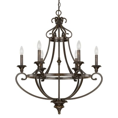 Maxwell 6-Light Candle-Style Chandelier