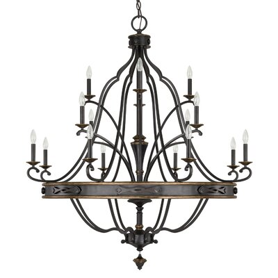 Wyatt 16-Light Candle-Style Chandelier