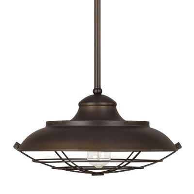 1-Light Mini Pendant Size: 45.75 H x 16.5 W