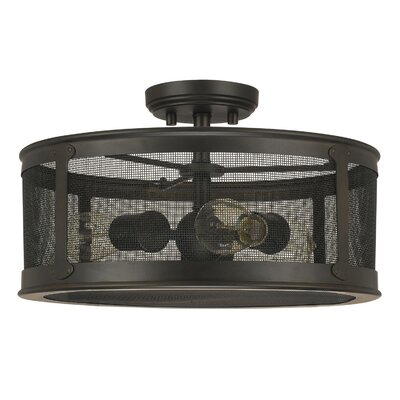 Calvin 3-Light Semi-Flush Mount