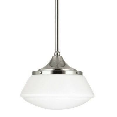 1-Light Mini Pendant Finish: Polished Nickel, Shade Color: Frosted