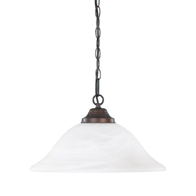 Machesney 1-Light Mini Pendant Glass Color: White