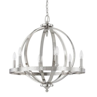 Brayden 6-Light Candle-Style Chandelier Finish: Polished Nickel