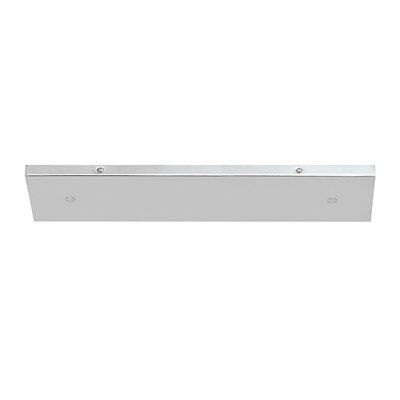 Multi Port Canopy Finish: Brushed Nickel, Size: 0.75 H x 18.25 W x 4.75 D
