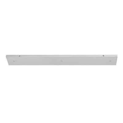 Multi Port Canopy Size: 0.75 H x 31.75 W x 4.75 D, Finish: Brushed Nickel