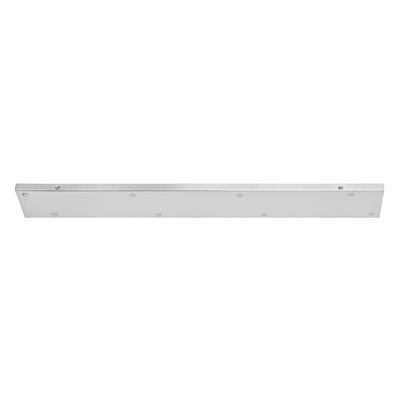 Multi Port Canopy Size: 0.75 H x 34 W x 5 D, Finish: Brushed Nickel