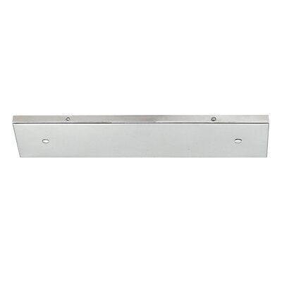 Multi Port Canopy Finish: Polished Nickel, Size: 0.75 H x 18.25 W x 4.75 D